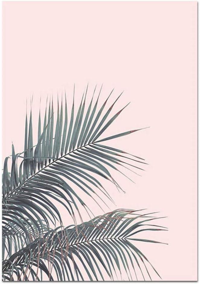 LiMengQi Flamenco nórdico Flor Pared Arte Lienzo Cartel Simple Impreso Rosa Pintura Decorativa Pintura decoración de la Sala de Estar (sin Marco): Amazon.es: Hogar