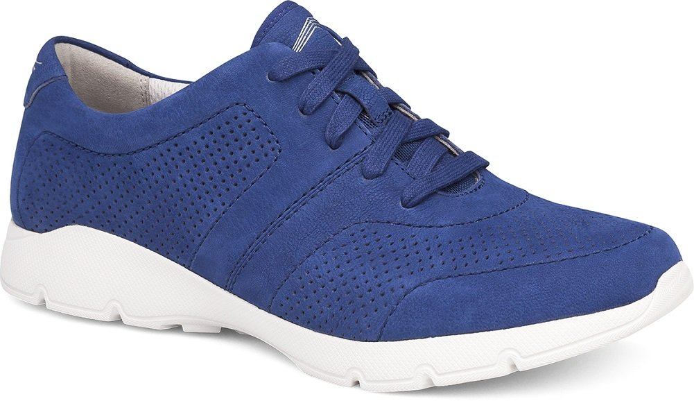 Dansko Alberta Collection Women's Alissa Fashion Sneaker B072WG8HM8 37 Regular EU|Blue Milled Nubuck