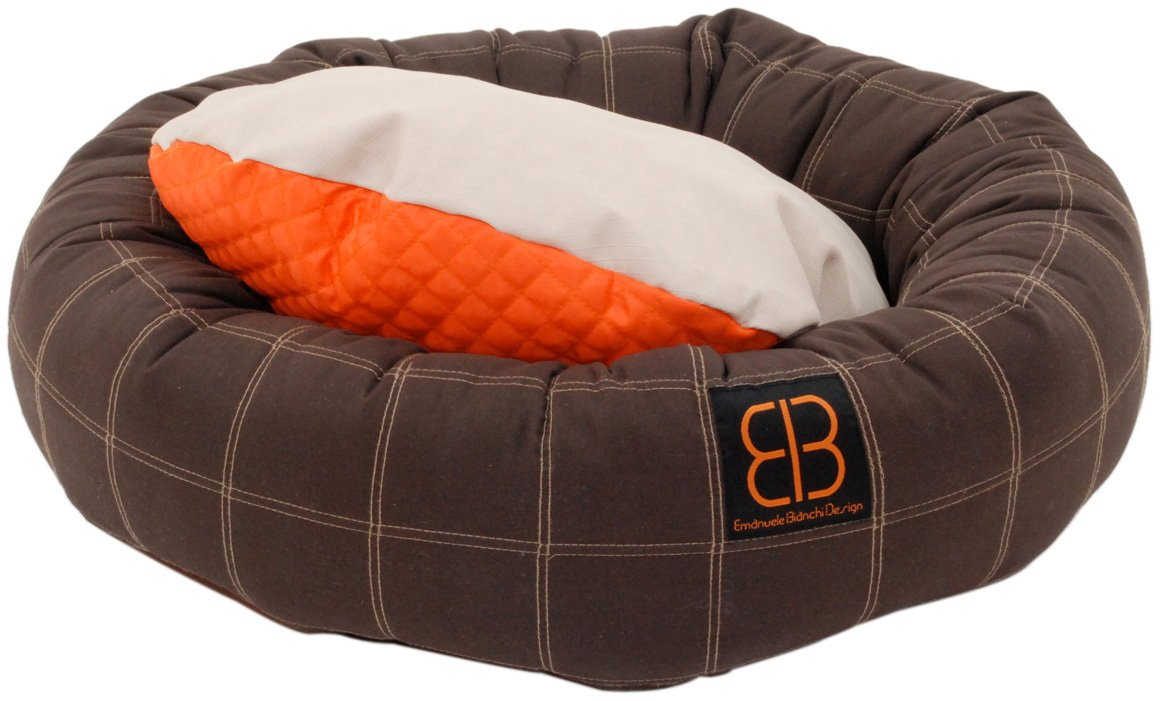 23 1 2-Inch Petego Dozer Donut Round Bolster Dog Bed, Small, 23 1 2-Inch