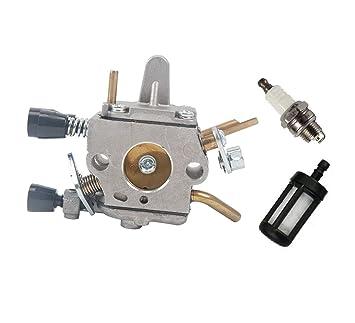 Zündkerze passt für Stihl FS120 FS200 FS250 FS300 FS350 Zündspule Luftfilter