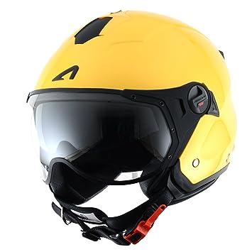 Astone Helmets MINISPORT-YEM Minijet Sport - Casco de motocicleta, Amarillo Metálico, M