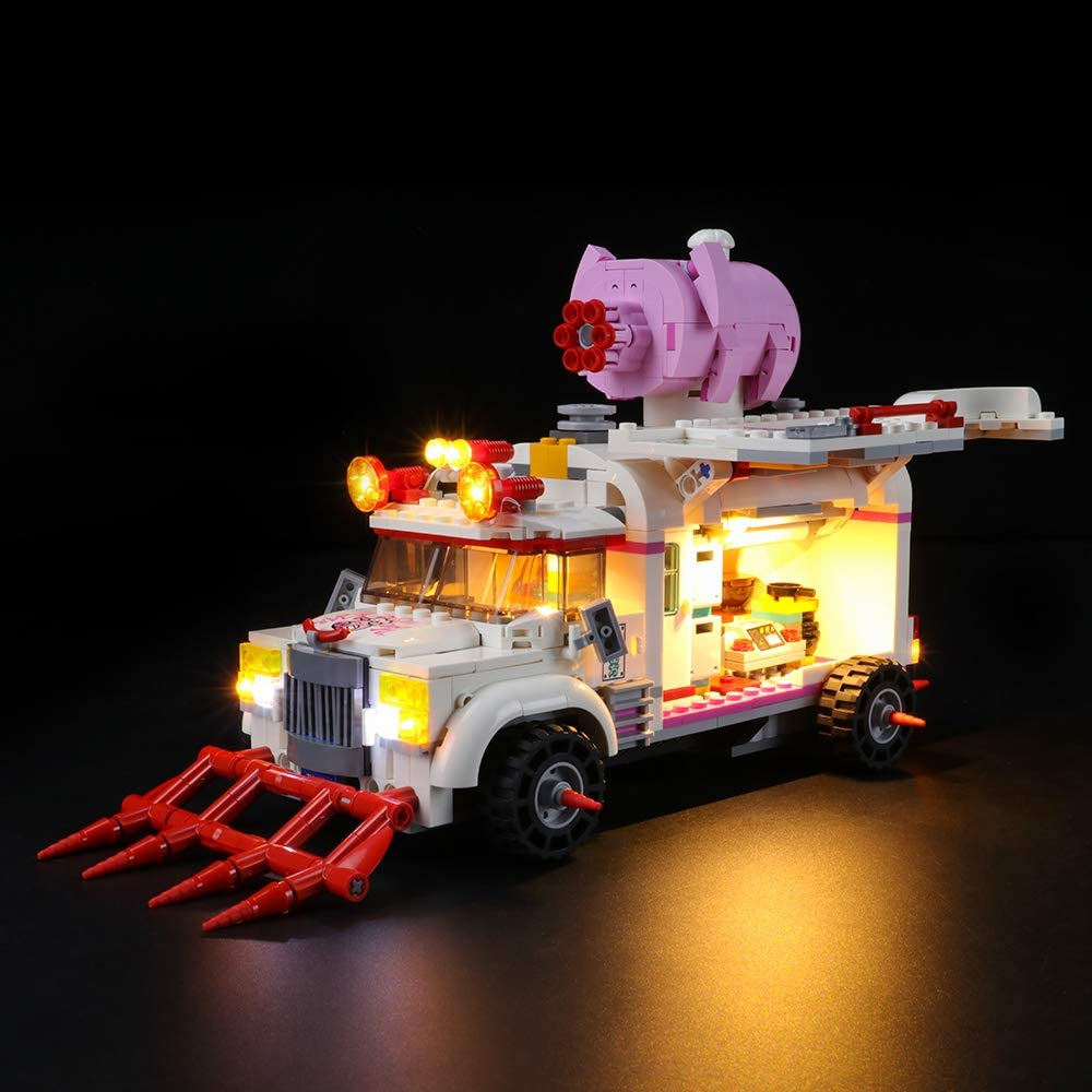 LIGHTAILING Light Set for (Monkie Kid pigsy's Food Truck) Building Blocks Model - Led Light kit Compatible with Lego 80009(NOT Included The Model)