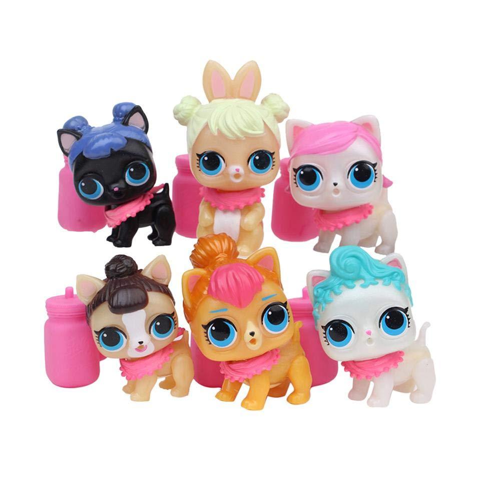6PCS fingerpuppen baby story zeit requisiten fingerpuppen set Fü r LOL Ü berraschungspuppe Cute Water Sprayer Doll Funihut