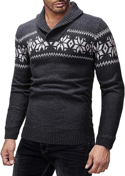 HANANei Men/'s Long Sleeves Sweater Autumn Winter 3D Printing O-Neck Fashion T-Shirt Tops Blouse