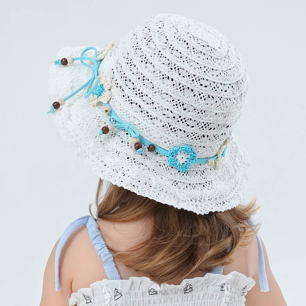 Girls Sun Hat Bold Cursive Embroidered Beach Floppy Hat