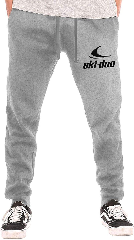 AP.Room Personality Mens Skidoo Long Pants Casual Closed Bottom Sweatpant Gray