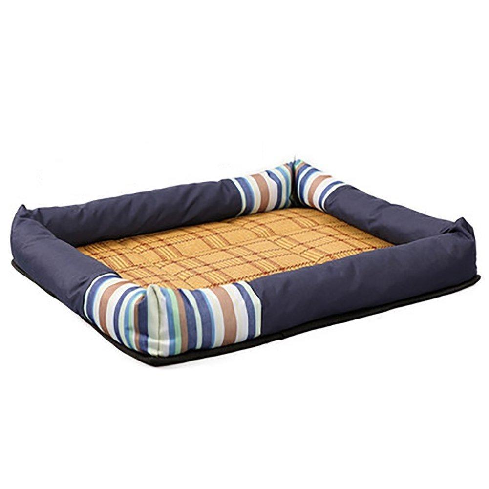 contatore genuino BAOLIJIN Pet Mat Estate Fresca Fresca Fresca Materasso canile Pet Bed Cat Litter Dog Supplies (colore  Blu, Taglia  Offriamo vari marchi famosi