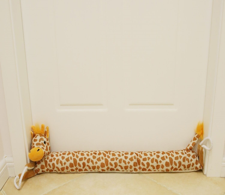 MAXTID 36'' Giraffe Under Door Draft Stopper (1.8 lbs) Draft Dodger Doors Snake with Hanging Cord, Save Energy & Money, Keep Heat In (Plush Giraffe)