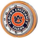 Auburn Univesiy 18'' Red Neon Garage Clock from Redeye Laserworks