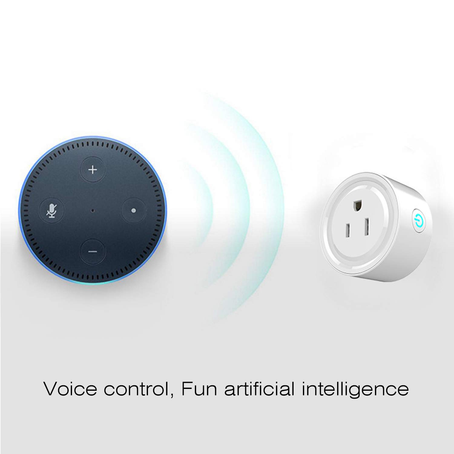 Mini WiFi Smart Remote Control Timer Plug Switch Outlet US Plug Home Devices(Color:White) FairytaleMM