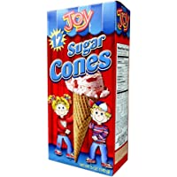 Joy Cone 12-Count SUGAR Ice Cream CONES 5oz (2 Pack) - SET OF 2