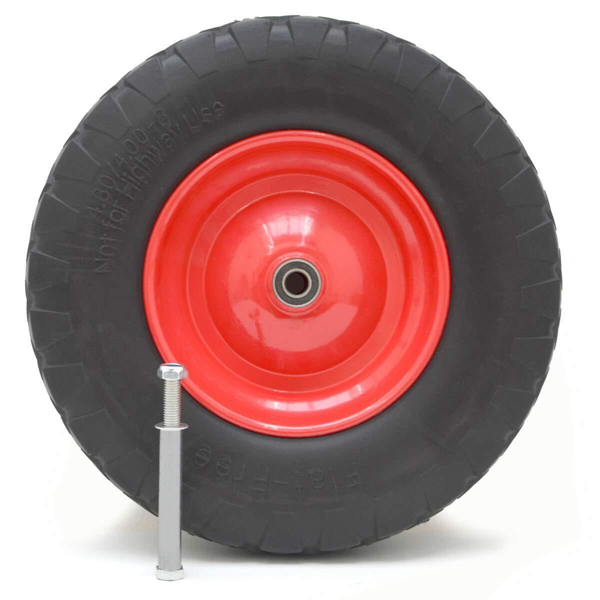 eyepower Rueda de PU incl. Eje 4.00-8 390x90 neumático sin aire para carretillas: Amazon.es: Industria, empresas y ciencia