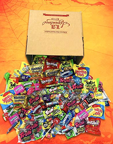FUN MIX ASSORTED Variety BULK Individually Wrapped Candies, 56 OZ (3.5 LBS) - Skittles, Haribo Gold Bears, Sour Patch Kids, Swedish Fish, Starburst, Lemondheads, Trolli, Now & Later & More