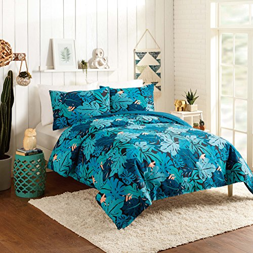 Discount Justina Blakeney Ojai Duvet Set, King, Blue, 3 Piece for sale