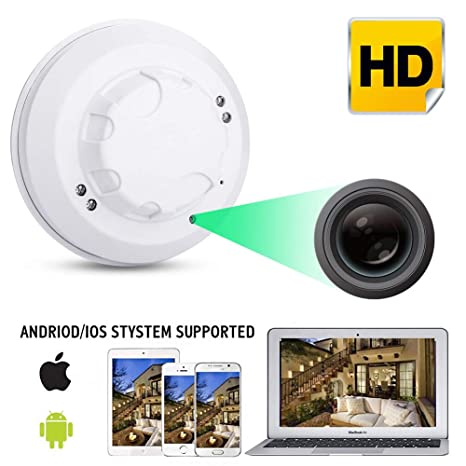 Ocamo WiFi HD 1080P Cámara IP Mini Detector de Humo Detección de Movimiento Nanny CAM DVR
