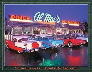 "Desperate Enterprises Lucinda Lewis - Roadside America - Al Mac's Diner Tin Sign, 16"" W x 12.5"" H"