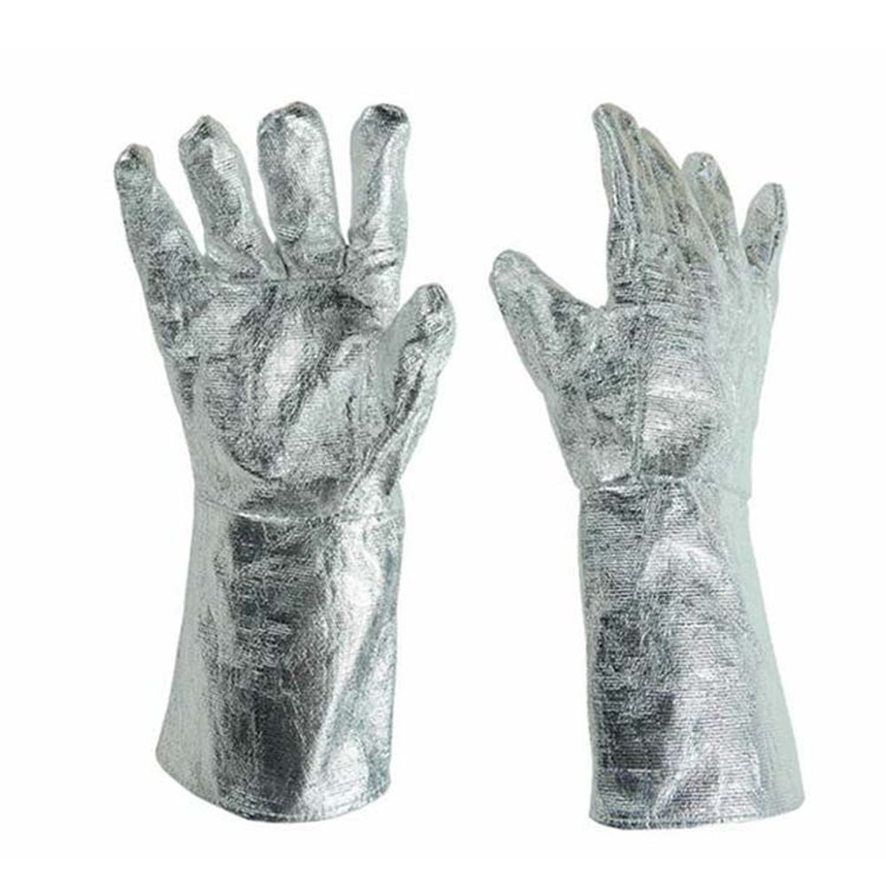 BMGIANT Aluminum Foil Gloves Insulate Heat Radiation Heat Insulation 1000 Degree High Temperature Working Thermal Radiation Glove