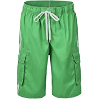 Nonwe Men's Beachwear Board Shorts Quick Dry with Mesh Lining Swim Trunks