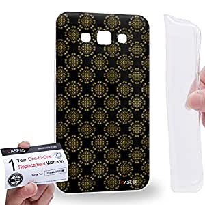 Case88 [Samsung Galaxy E7] Gel TPU Carcasa/Funda & Tarjeta de garantía - Art Aztec Assorted Design Black & Brown Art1294