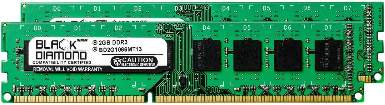 4GB 2X2GB RAM Memory for Acer Veriton X275 DDR3 DIMM 240pin PC3-8500 1066MHz Black Diamond Memory Module Upgrade