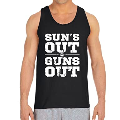 9444dd30065 Men s Sun s Out Guns Out Black Tank Top (Small). Roll over image to zoom  in. Empire Tees