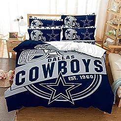 Weckim Dallas Cowboys Three-Piece Beddin...