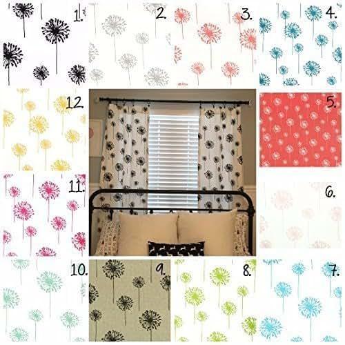 Black And White Kitchen Curtains Amazon Com: Amazon.com: Dandelion Curtain Panels Nursery Curtains