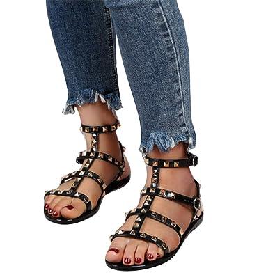 cf9e0e2f61c3 Juleya Flat Summer Sandals Women Gladiator Shoes - Fashion Roman Peep Toe  Sandals