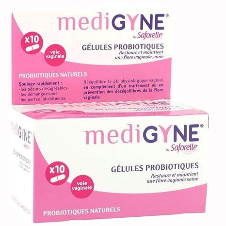 Saforelle medigyne gelules probiotique voie vaginale par 10