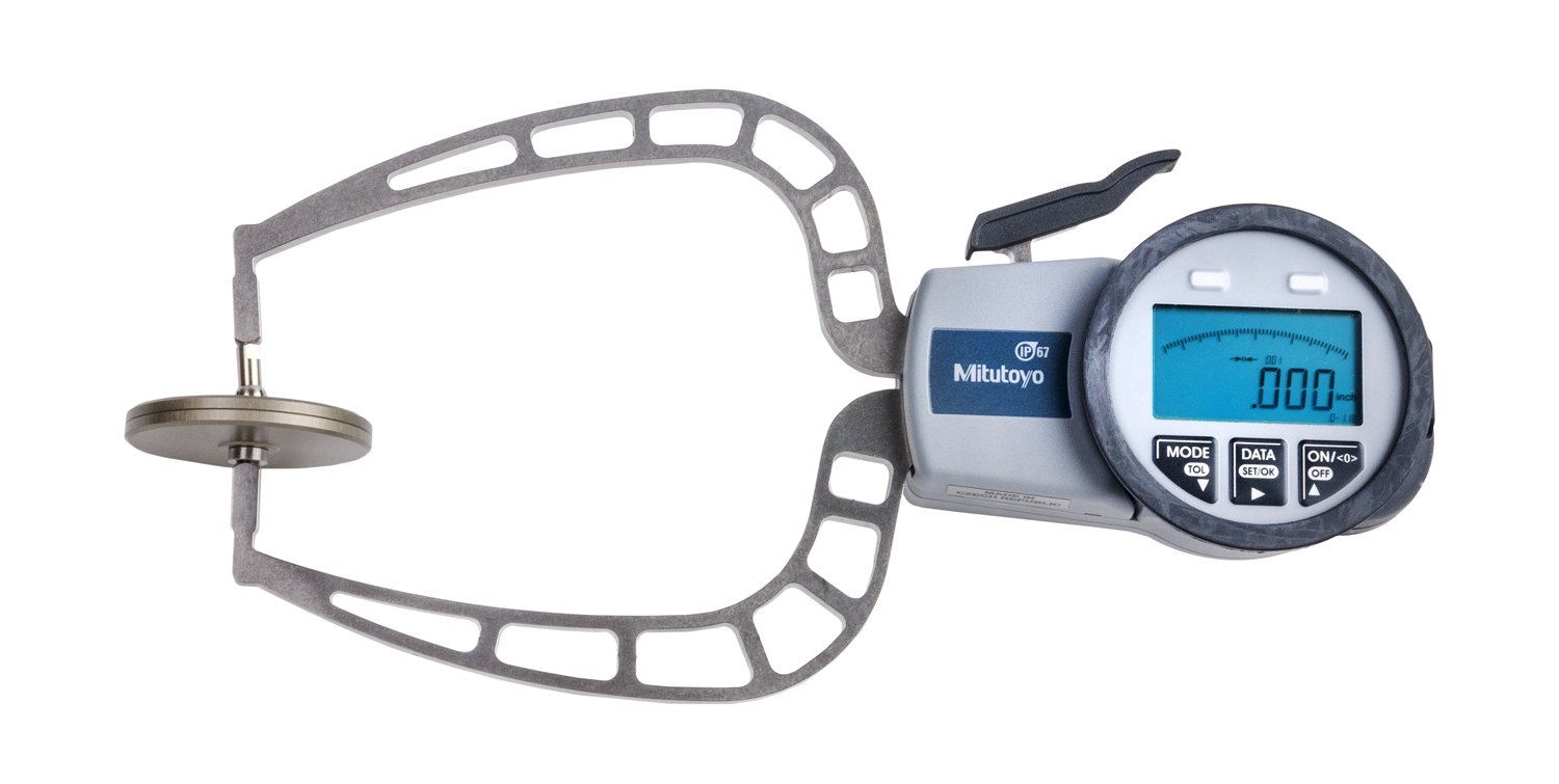 Mitutoyo 209-915 Digital Caliper Gage, 0-1.57'', 0.001'', 116 mm Depth with External Tube Thickness Measurement