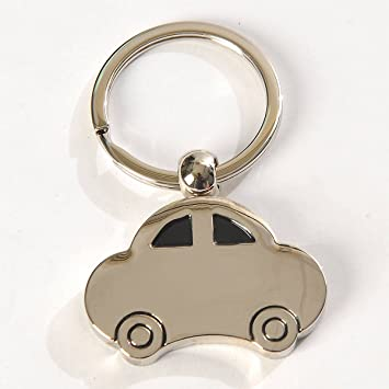Llavero con forma de coche de plata: Amazon.es: Oficina y ...