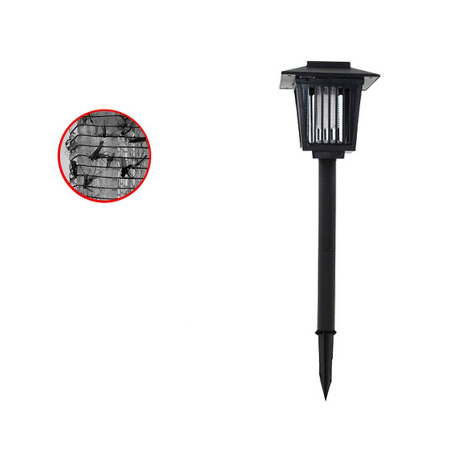 Solar Powered Bug Zapper Light, Solar Mosquito Killer Insect Killer Indoor Outdoor Fly Pest Trap Lamp Portable Garden Lawn Light For Garden, Patio, Outdoor Ground Residential, Commercial and Industri by THE SAFETY ZONEY (Image #2)