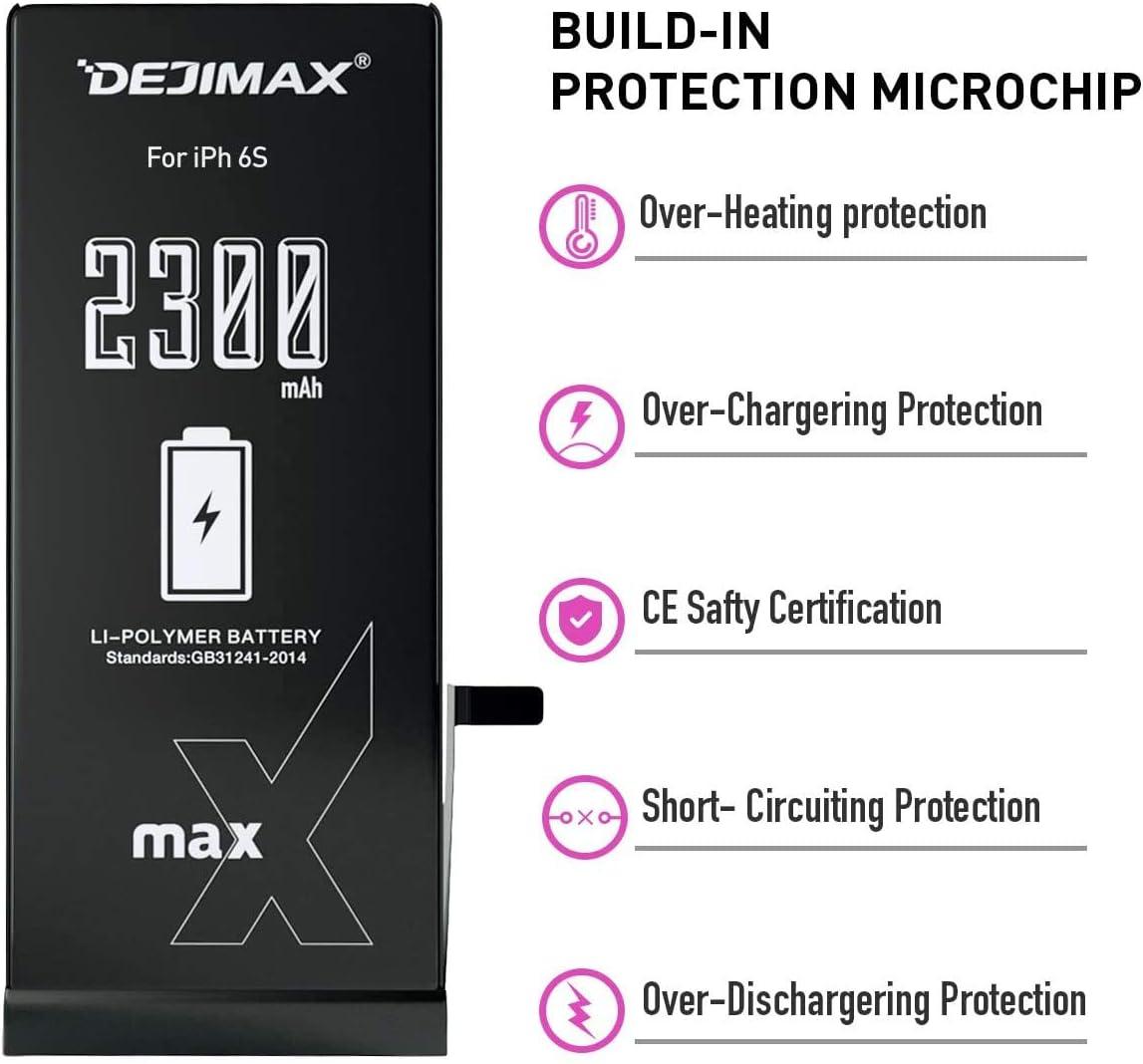 DEJIMAX 2010 mAh 5S//5C Bater/ía Reemplazo para iPhone 5S//5C Bater/ía de Reemplazo de Iones de Litio de Alta Capacidad de 2010 mAh con Kit de Herramientas y Kit de Reparaci/ón