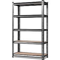 GIANTZ Warehouse Rack 0.7m Width 2 Adjustable Racks Metal Steel Warehouse Shelving Racking Garage Storage Shelves Racks…