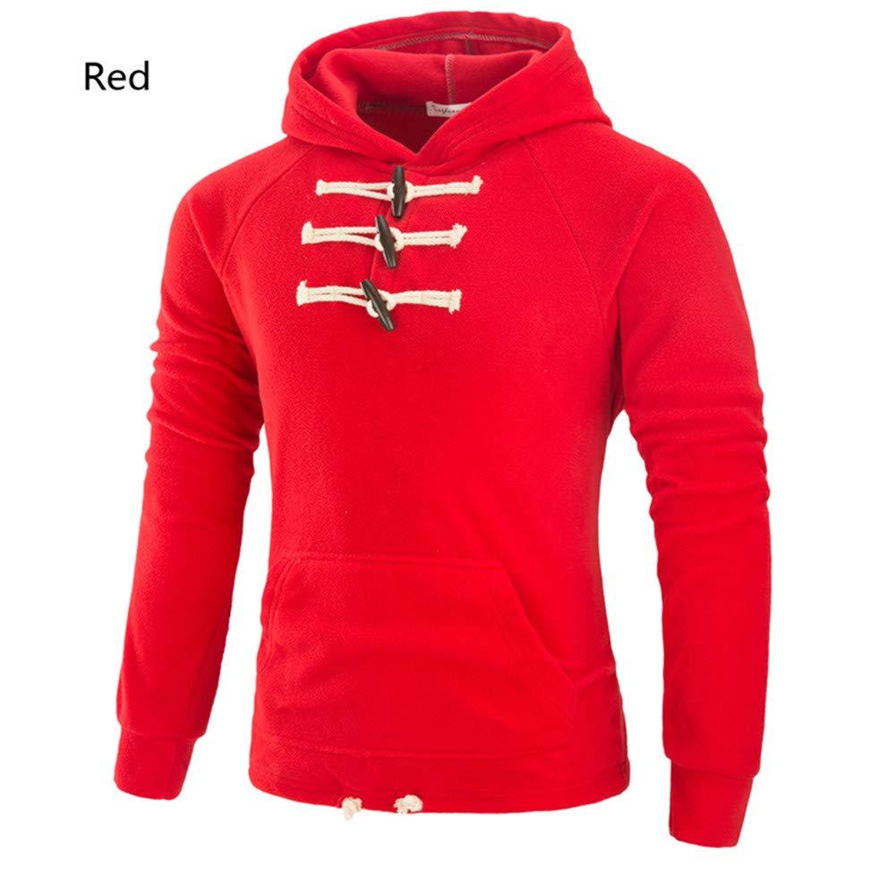 Männer Hoodie - Weich Und Warm Slim Casual Wear,ROT,M