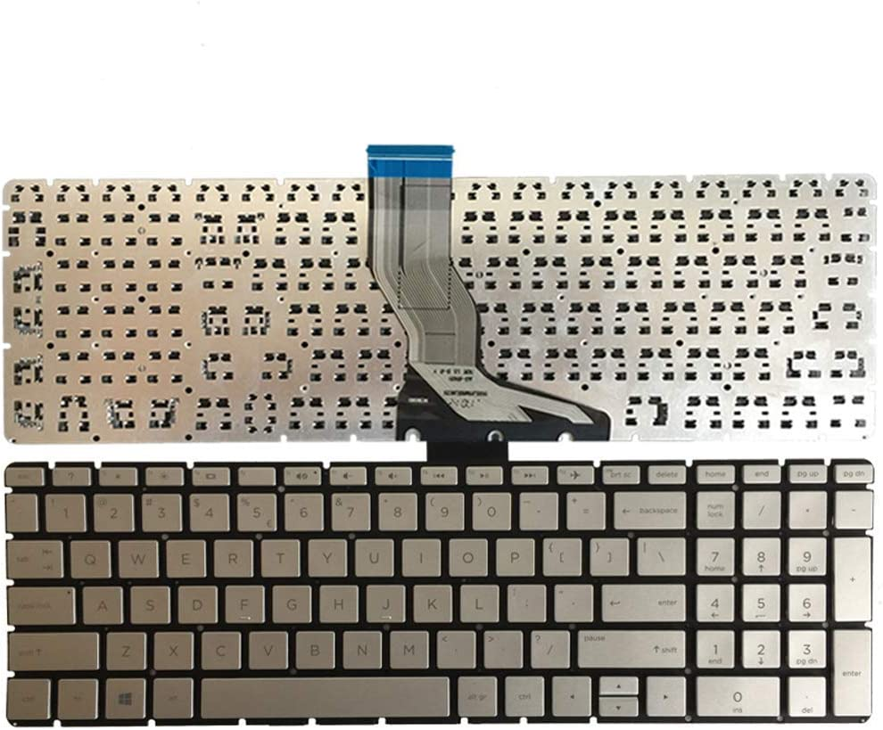US Layout Silver Color Replacement Keyboard Without Frame for HP Pavilion 15-BS001CY 15-BS003CY 15-BS005CY 15-BS006CY 15-BS007CY 15-BS008CY 15-BS009CY