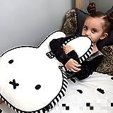 Hiltow Miffy Rabbit Pillow,Decorative Cotton Linen Throw Pillow Case Cushion Cover