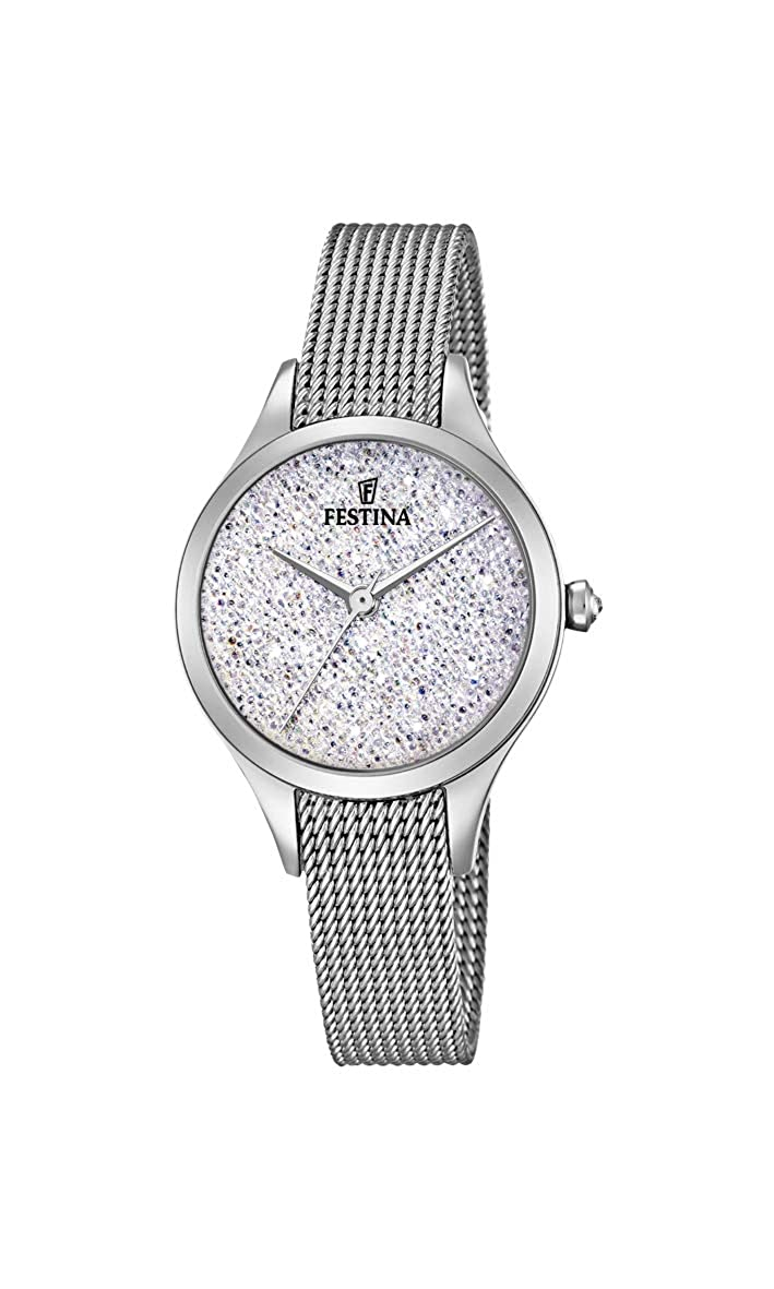 Amazon.com: Womens Watch Festina - F20336/1 - Crystals from Swarovski - Milanese Band: Watches