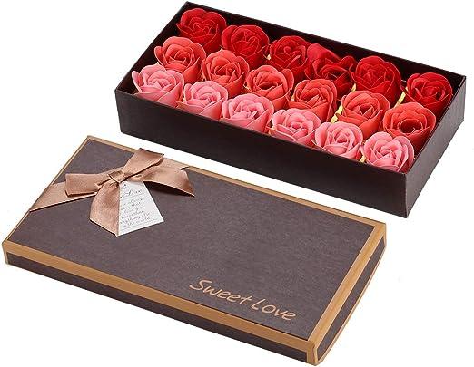 18 Ramo de Simulación de Flor de Rosa Día de San Valentín Regalo ...