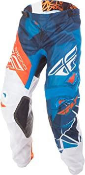 Fly Racing Unisex-Adult Kinetic Mesh Pants Blue//White//Orange Size 32