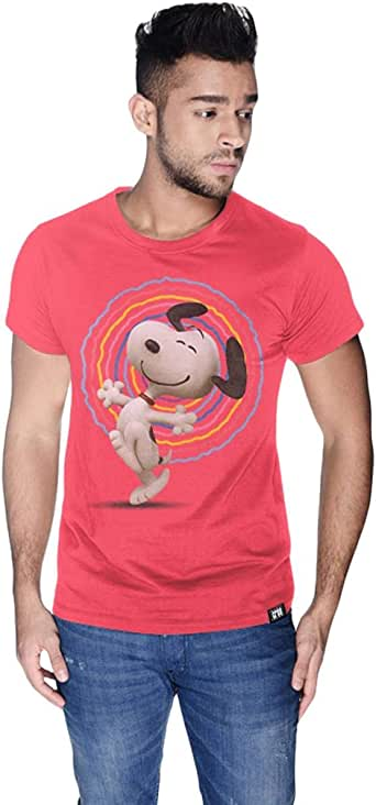 Creo Cotton Round Neck T-Shirt For Men