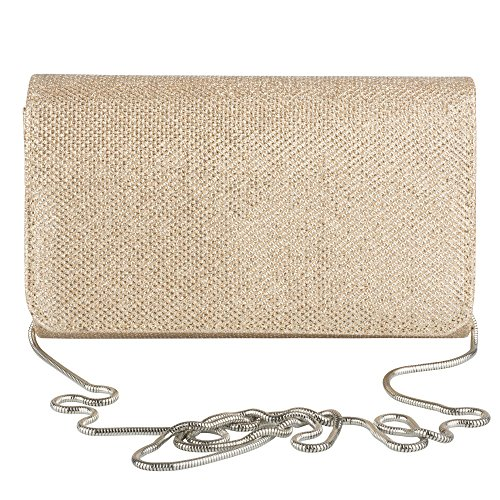 La Regale Sparkle Jacquard Flap Clutch, Formal Evening Handbag Purse La Regale Satin Flap Clutch