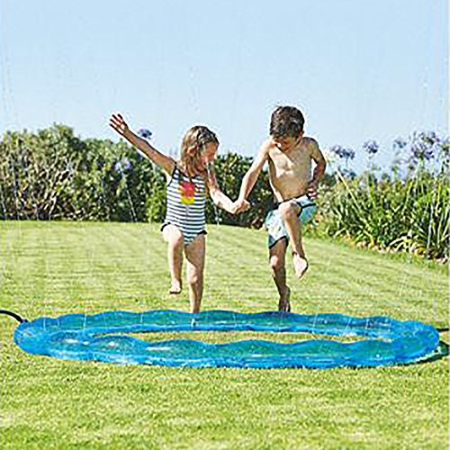 GreenItem Splash Pad Sprinkler Ring Enhanced PVC Sprinkler Pad Splash Play Mat for Baby Children Summer Play Beach Outdoor Garden Lawn (Sprinkler Ring)