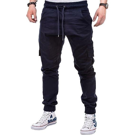 Dress Pants for Men, Fashion Mens Sport Pure Color Bandage ...