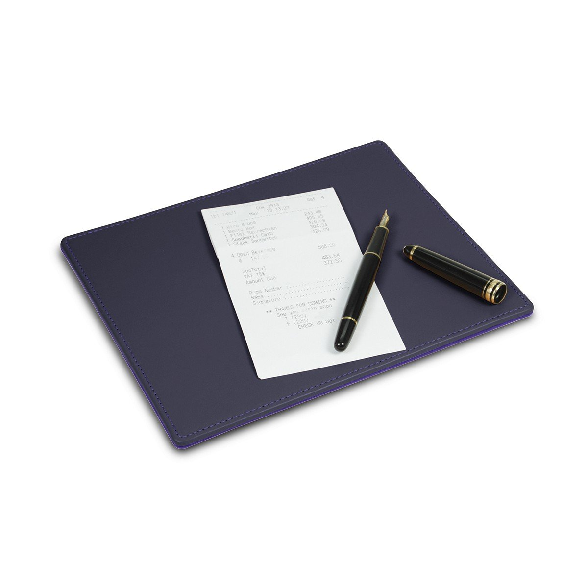 LUCRIN - Signing pad - Smooth Cow Leather, Purple