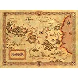 Unknown Travel 24X36 INCH / ART SILK POSTER / Cuadros Decoracion Classic Narnia Treasure Map Home Wall Decor Canvas Picture