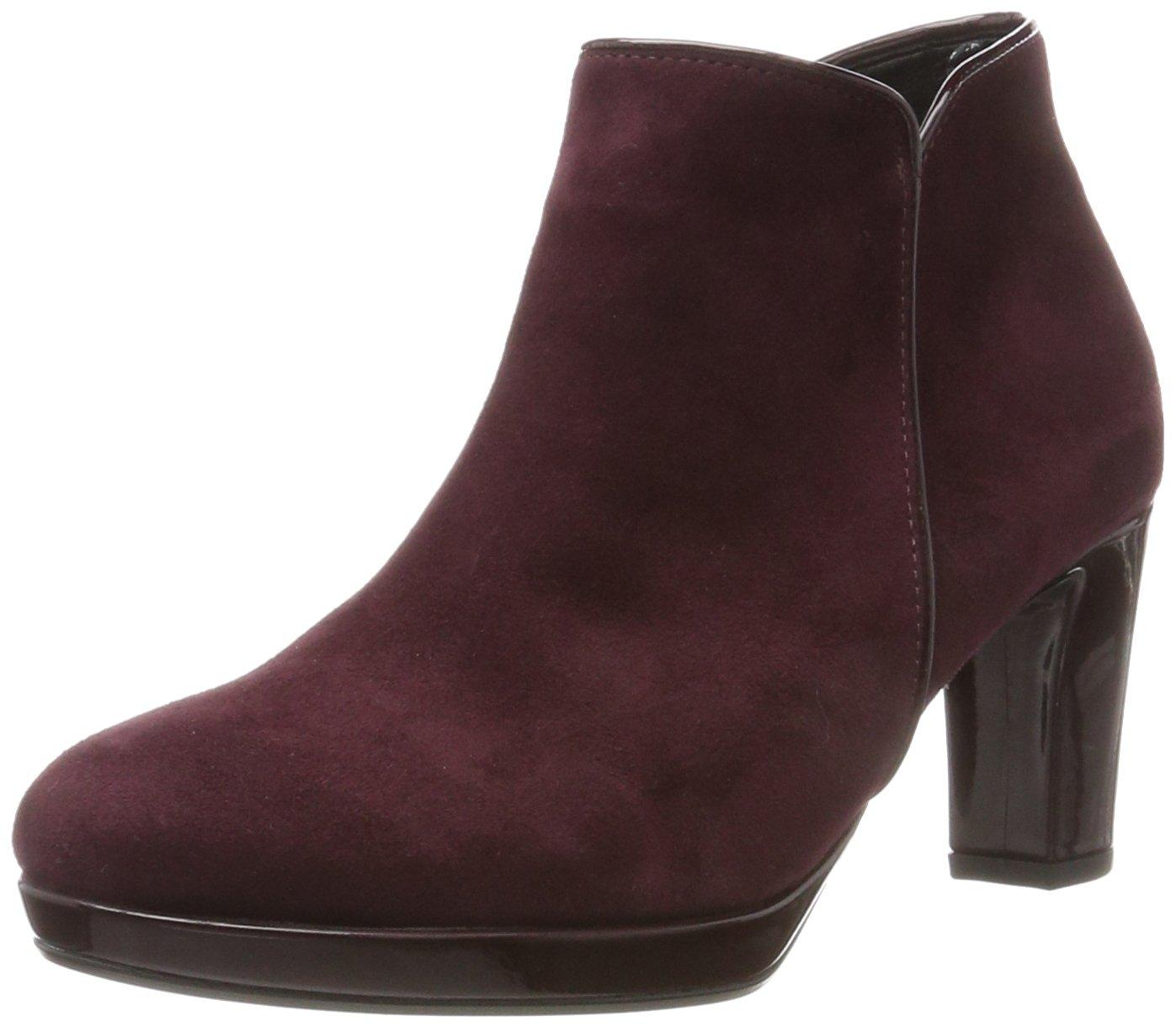 Gabor Shoes Comfort Basic, Botas para Mujer Rojo (New Merlot Ldf)