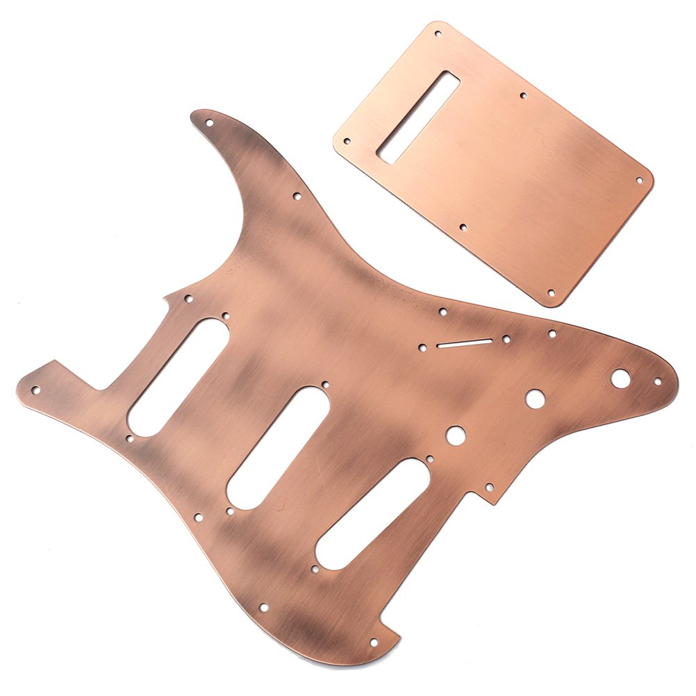 /El/éctrica precableado para Fender Stratocaster lat/ón rosenice golpeador de guitarra profesional con placa trasera Loaded/