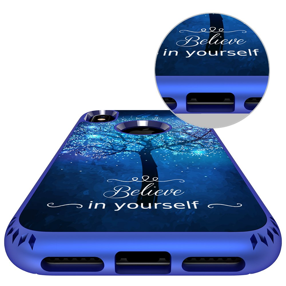 iPhone X Case, MagicSky Shockproof Slim Corner Protection with Resilient Shock Absorption Rubber Protective Case Cover for Apple iPhoneX - Believe in yourself