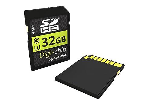 Digi-Chip - Tarjeta de memoria 32 GB Class 10 SD SDHC para ...